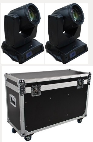 Lot de 2 Lyres Beam 200 Acilite 5R avec Flightcase