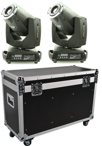 lot de 2 Lyres Starway Servozoom 10R beam et Spot source 10R 280W avec flightcase