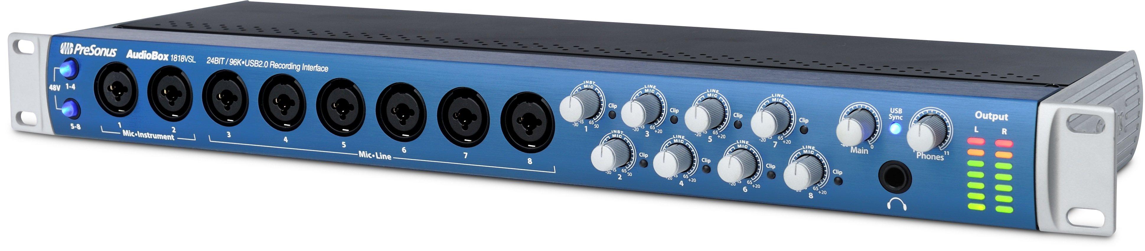 Carte son Presonus Audiobox 1818VSL 18 in 18 out 24 bits / 96KHz