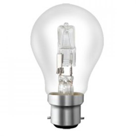 Ampoule B22 230V 52W Standard halogène éco remplace 75W