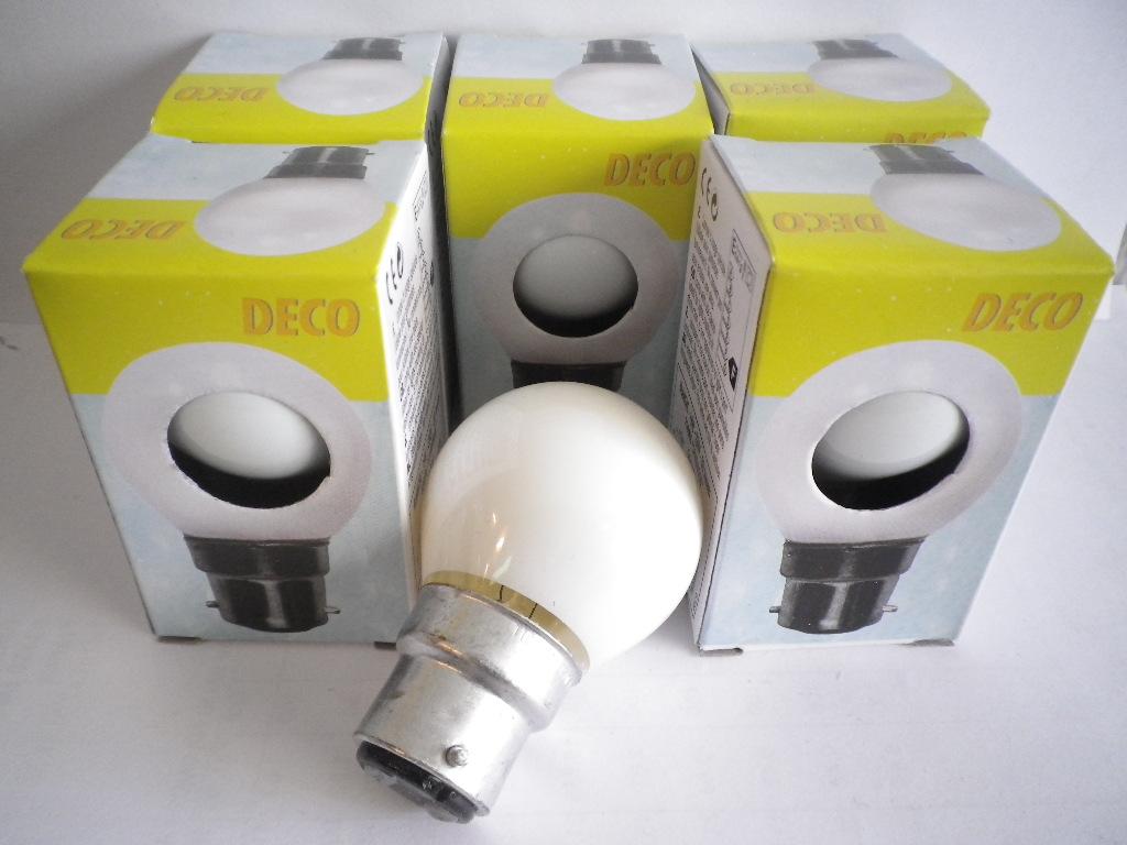 livraison gratuite lot de 5 ampoules sph rique blanches opaque b22 230v 15w lampe a decharge prozic. Black Bedroom Furniture Sets. Home Design Ideas