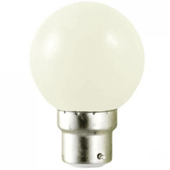 Ampoule sphérique B22 230V LED 0,8W BLANC FROID