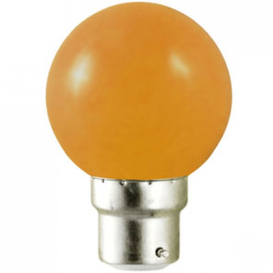 Ampoule sphérique B22 230V LED 0,8W ORANGE