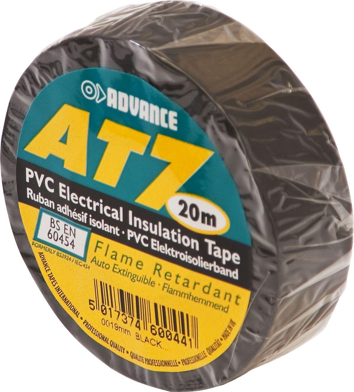 Adhesif isolant noir Advance AT7 15mm X 10m type barnier