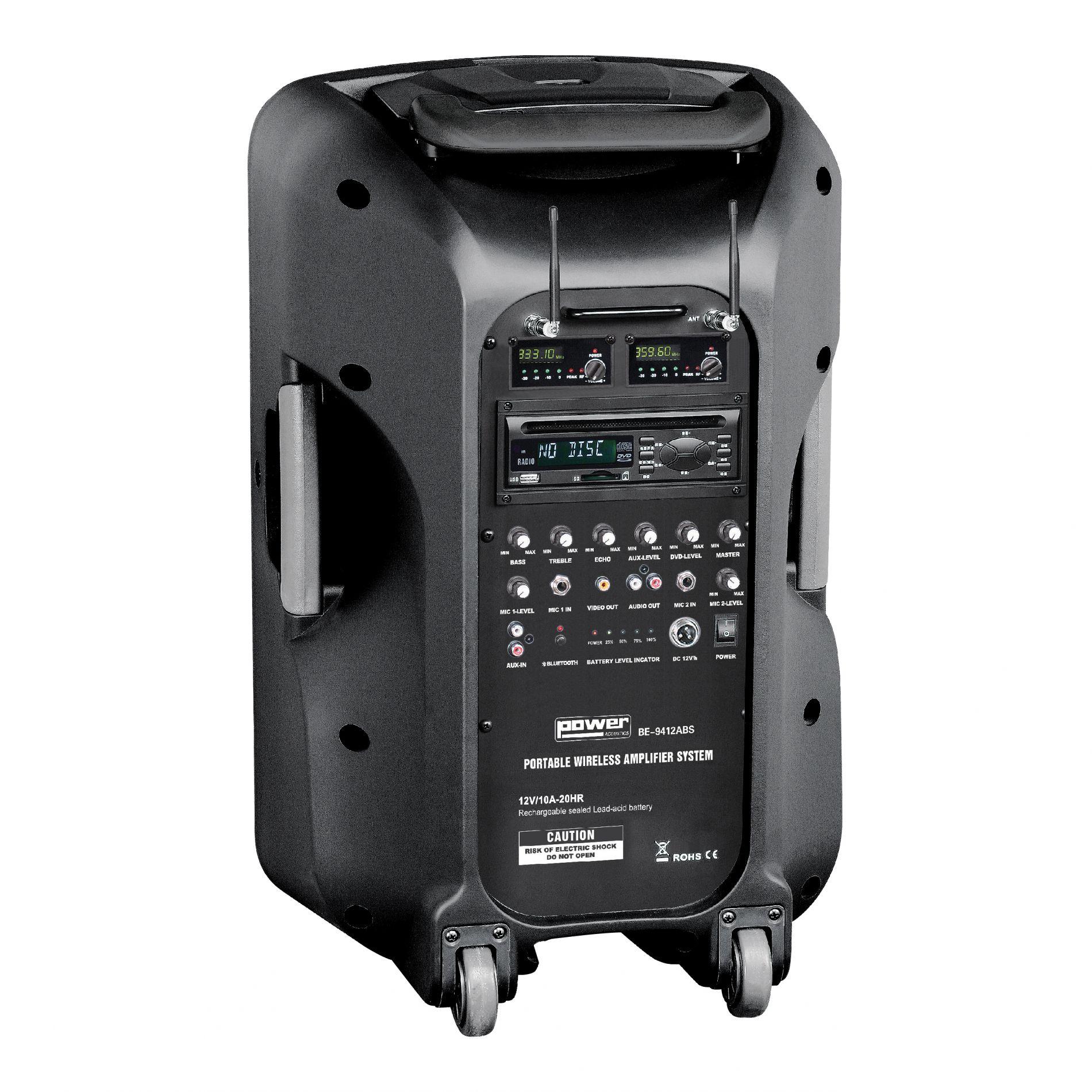 livraison gratuite syst me de sonorisation portable power acoustics be9412ptabs power acoustics. Black Bedroom Furniture Sets. Home Design Ideas