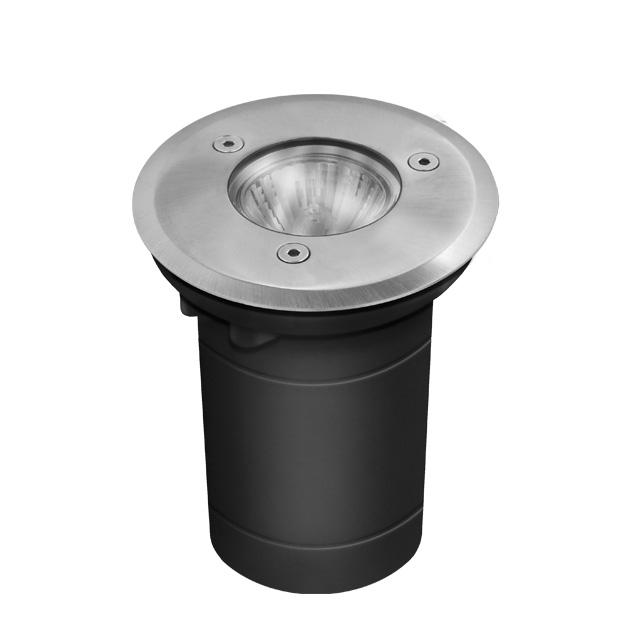 livraison gratuite luminaire exterieur rond findo pour encastrement au sol tanche ip67. Black Bedroom Furniture Sets. Home Design Ideas