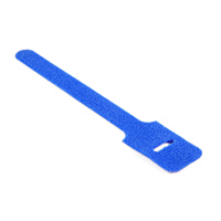 attache cable velcro bleu 15cm X 1.25cm à scratch