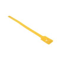 attache cable velcro jaune 15cm X 1.25cm à scratch