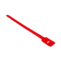 attache cable velcro rouge 15cm X 1.25cm à scratch