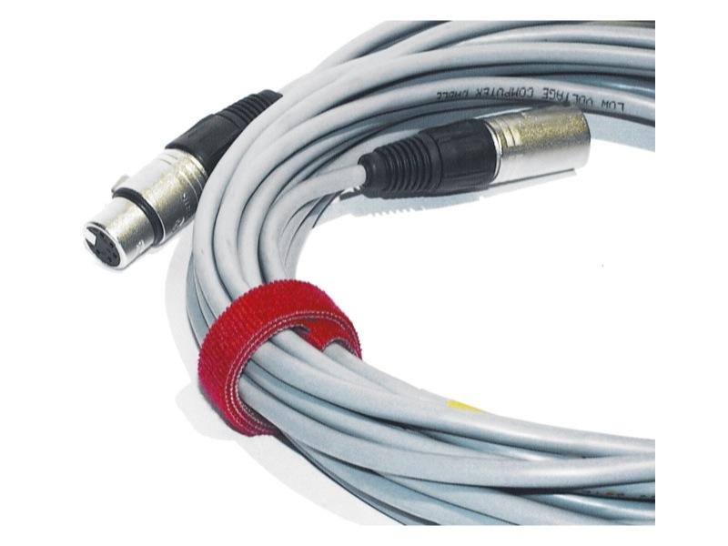 attache cable velcro rouge gros modèle 30cm X 2.5cm à scratch