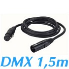 cable DMX 110ohms XLR 3 broches male Femelle 1,5 m