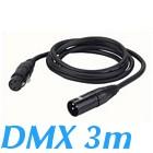 cable DMX 110ohms XLR 3 broches male Femelle 3 m