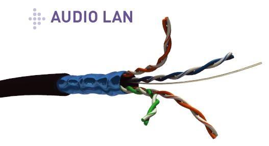 Cable audiolan ou ethersound RJ45 4 paires Cat 5E vendu au mètre