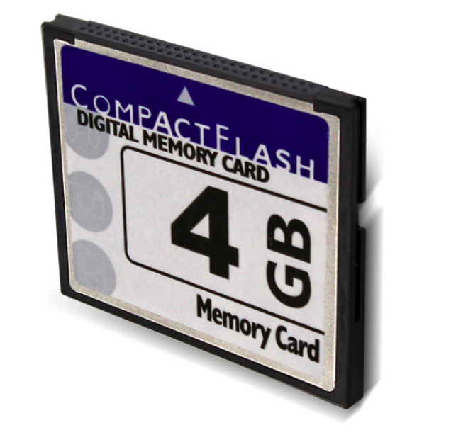 carte memoire compact flash Prozic : Carte mémoire compact Flash 4Go