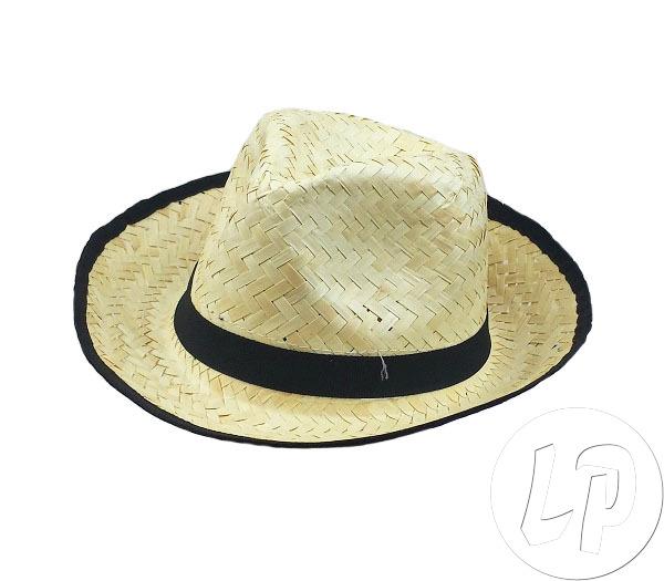 Chapeau de paille pour déguisement avec bandeau noir