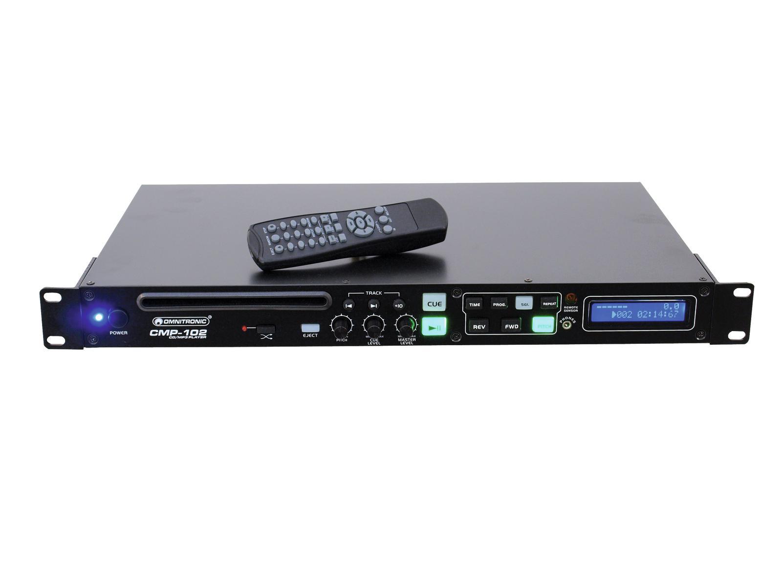 Lecteur CD/SD CD/-R/-RW CD-DA et MP3 OMINTRONIC CMP 102 1 unité Auto-pause