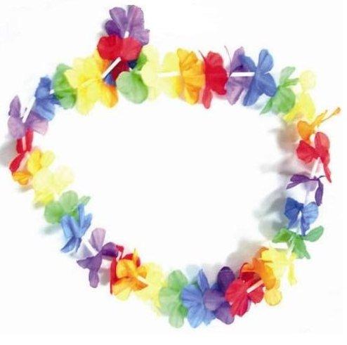 Collier à fleurs 55cm hawaiien pour fête