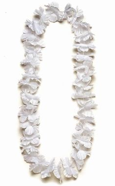 Collier à fleurs  blanc pour fête