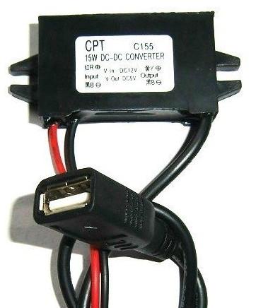 Convertisseur 12v continu vers USB 5V 15W