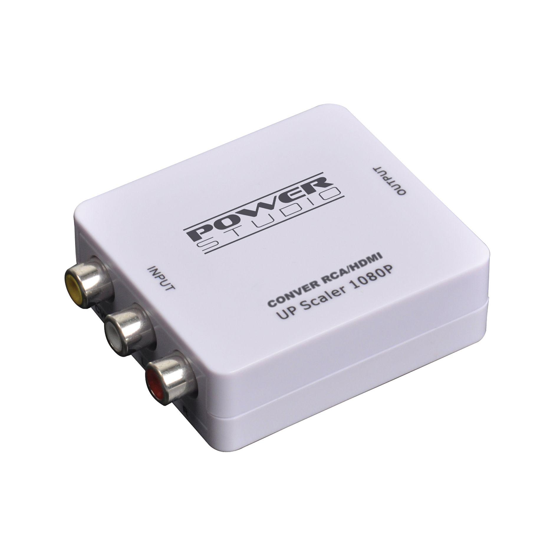 Convertisseur Vidéo Power studio RCA composite vers HDMI upscaler 1080p