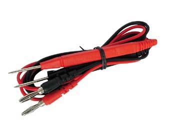 Jeu de 2 cordons de mesure noir et rouge avec fiche banane pour multimètre