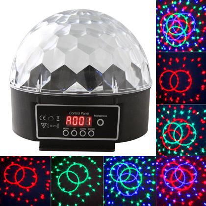 EFFET CRYSTAL - 18 Astro boule 6 LED 3W PILOTAGE DMX musical et automatique