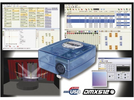 Interface usb et Logiciel de controle DMX DASLIGHT M128