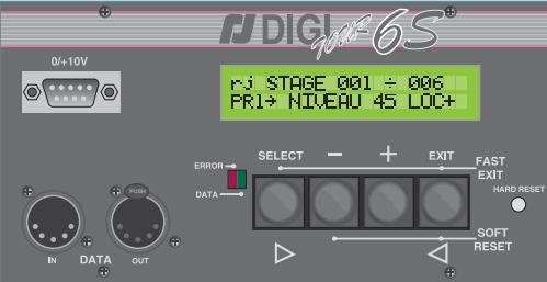 Bloc de puissance Robert Juliat Digitour 6s 6 doubles fiches NF