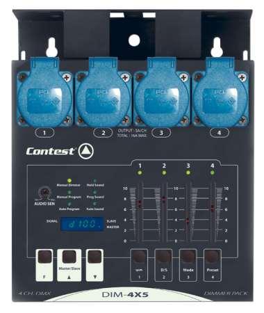 Bloc de puissance Contest DIM-4X5 4 voies 1000W compact avec fader