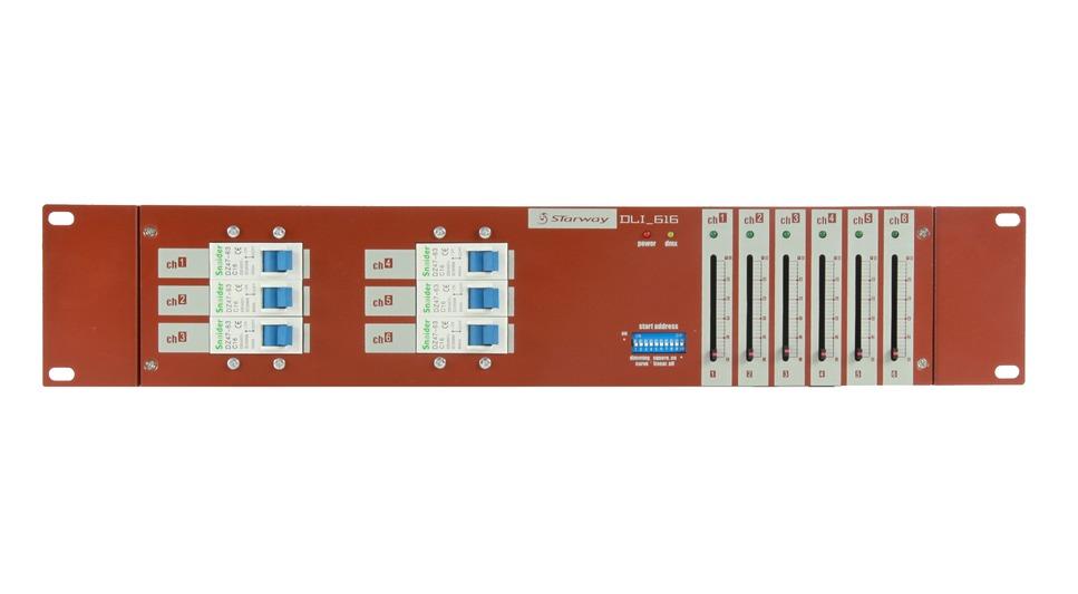 Bloc de puissance DMX Starway DLI616 6 voies 16A