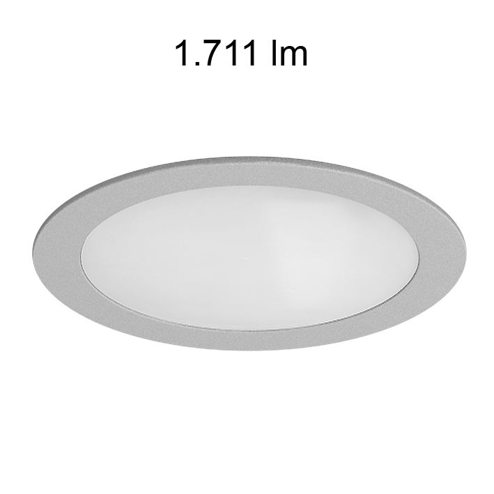 Downlight led Beneito Faure chrome mat 230V 25W 120° 840