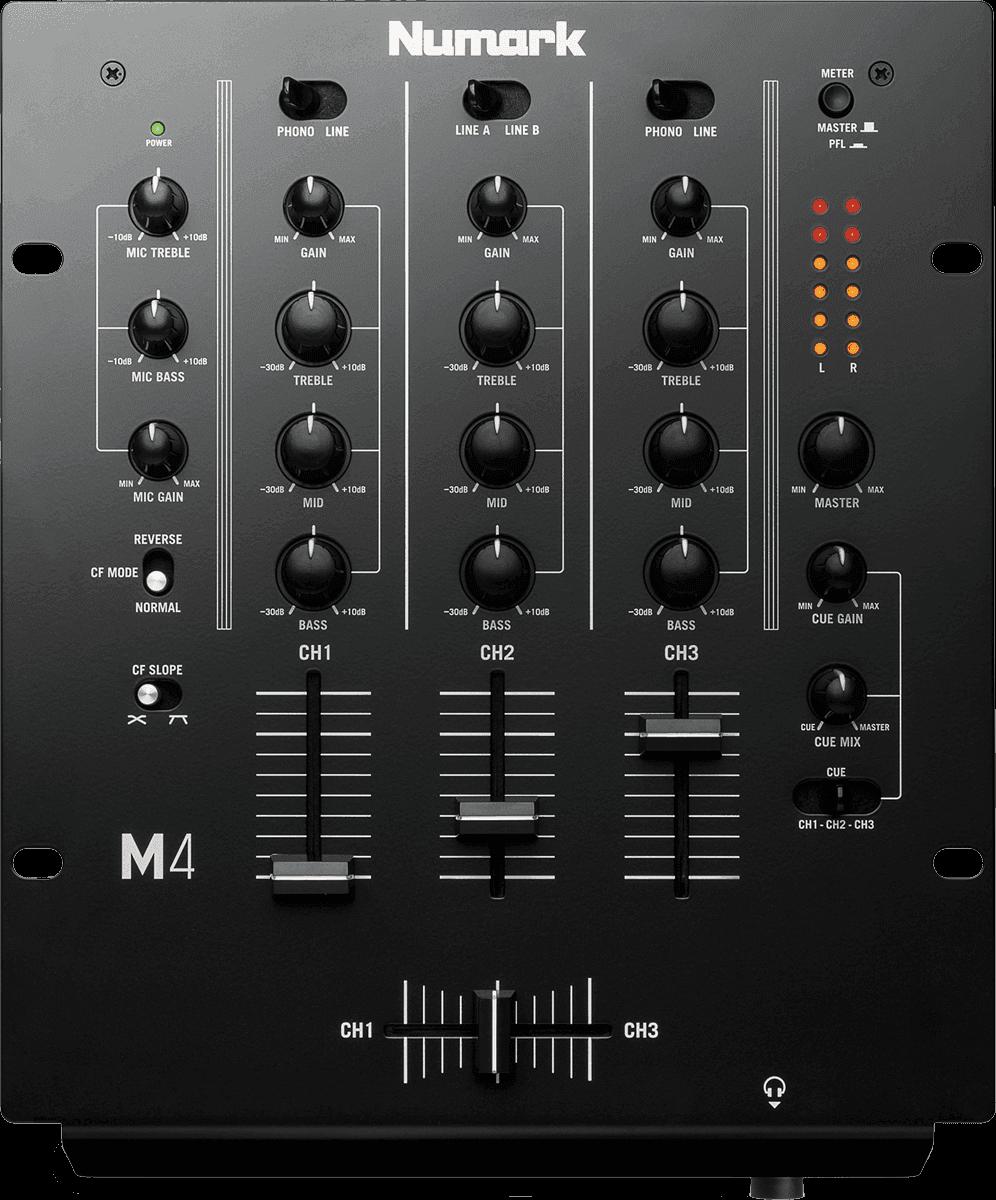 livraison gratuite table de mixage dj numark m4 3. Black Bedroom Furniture Sets. Home Design Ideas
