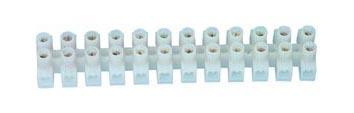 barrette de 12 connections type domino 2,5 à 4mm² blanc