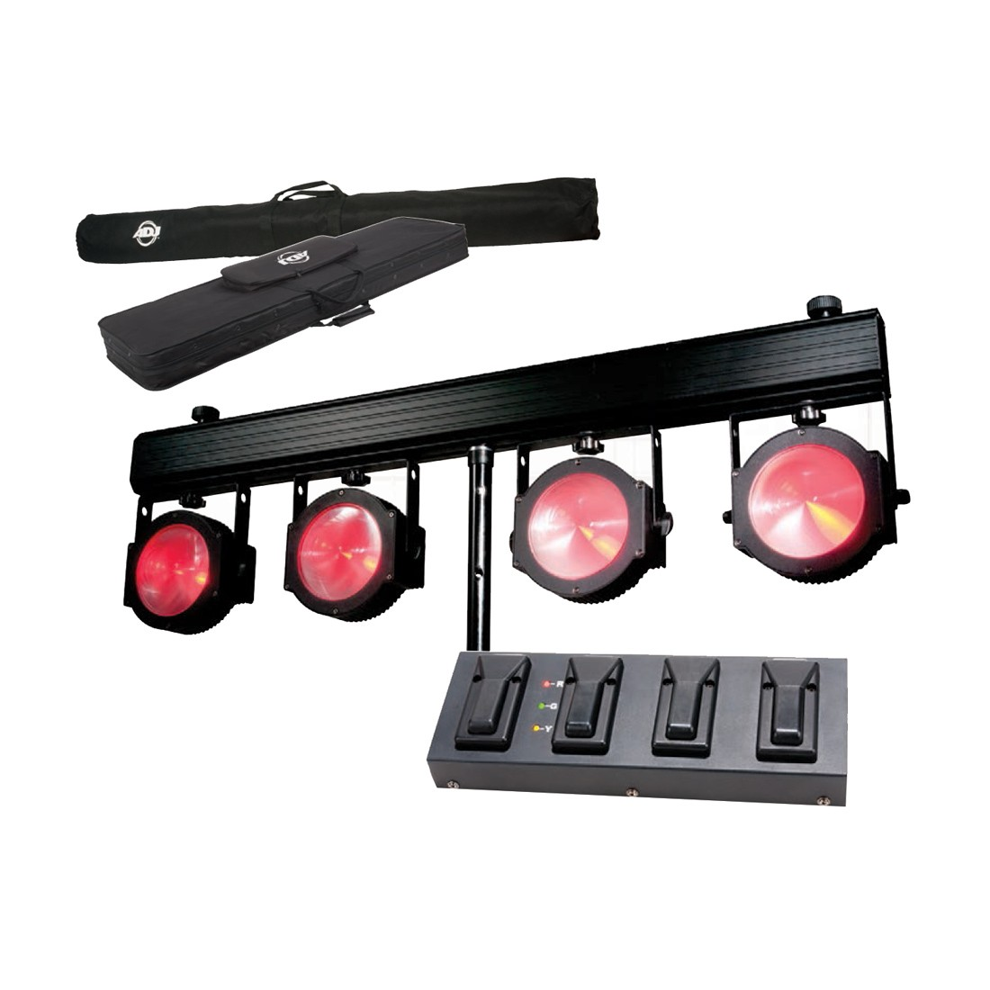 Sytsème d'éclairage 4 par COB 30W American DJ Dotz TPAR System