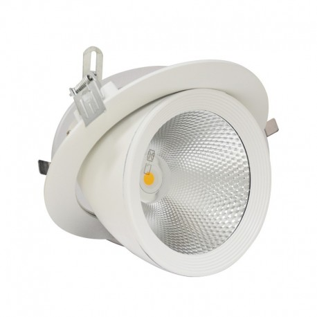 Downlight rond encastrable led orientable COB 30W blanc 4000K