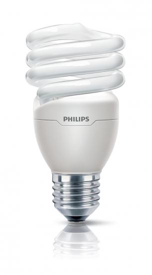 Ampoule Eco E14 12W Blanc chaud Philips Tornado