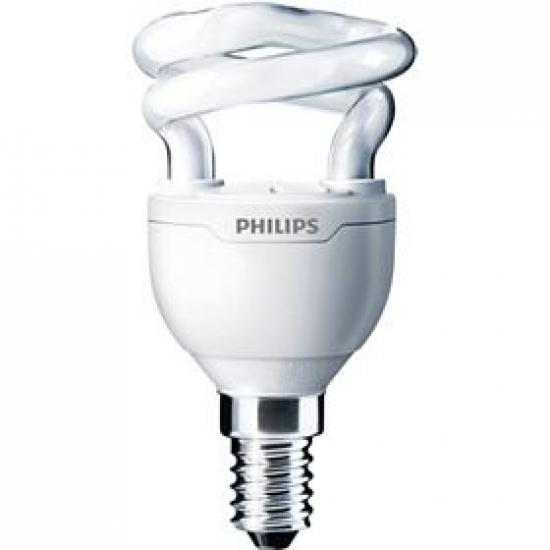 Ampoule Eco E14 5W Blanc chaud Philips Tornado code 92658300