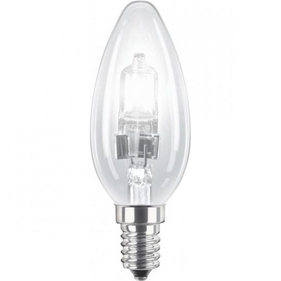 Ampoule E14 230V 18W flamme claire halogène équivalent 25W PHILIPS code 82054600
