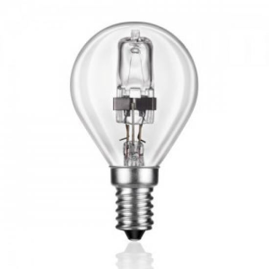 Ampoule E14 230V 28W sphérique claire éco halogène équivalent 40W PHILIPS code 83146700