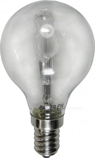 Lampe E14 230V 42W sphérique claire éco halogène équivalent 55W PHILIPS code 83148100
