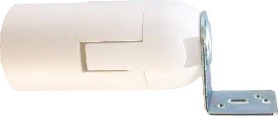 Douille E14 blanche clipsable avec équerre métallique