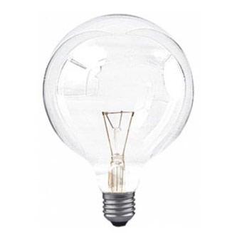livraison gratuite ampoule globe clair 125mm e27 100w 230v globes e27 prozic. Black Bedroom Furniture Sets. Home Design Ideas