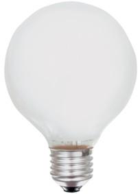 Ampoule globe opale 125mm E27 25W 230V