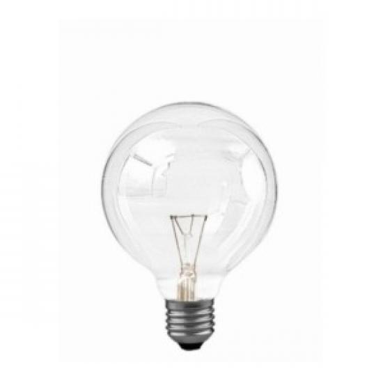 livraison gratuite ampoule globe clair 95mm e27 60w 230v globes e27 prozic. Black Bedroom Furniture Sets. Home Design Ideas