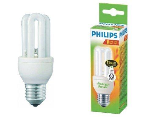 Ampoule Eco E27 11W Blanc chaud Philips Genie code 80119710