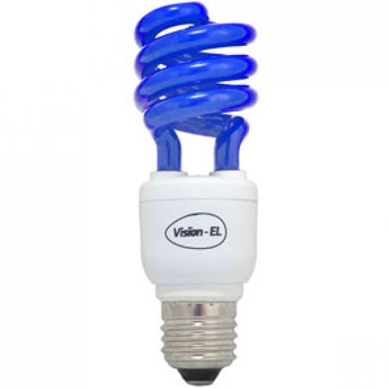 livraison gratuite ampoule eco e27 15w bleue prozic. Black Bedroom Furniture Sets. Home Design Ideas