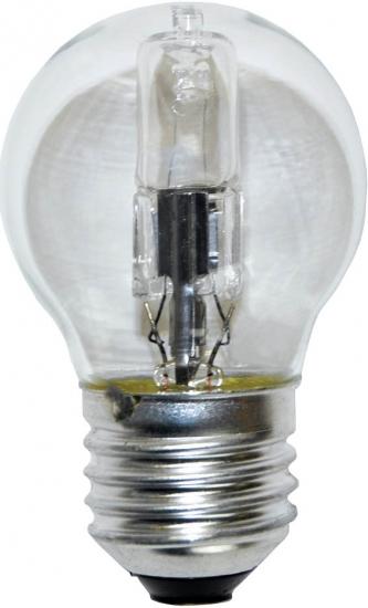 Ampoule E27 230V 28W sphérique claire éco halogène équivalent 40W PHILIPS code 83140500