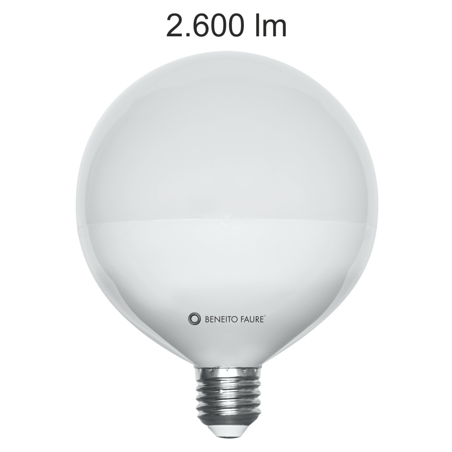 Ampoule Beneito Faure led Globe 120mm E27 22W 3000K 2500 lumens