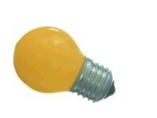 Lampe E27 à led Jaune 0,5W 230V