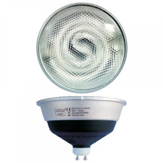 Ampoule Hi-spot  ES111 GU10 fluo 230V 20W blanc chaud